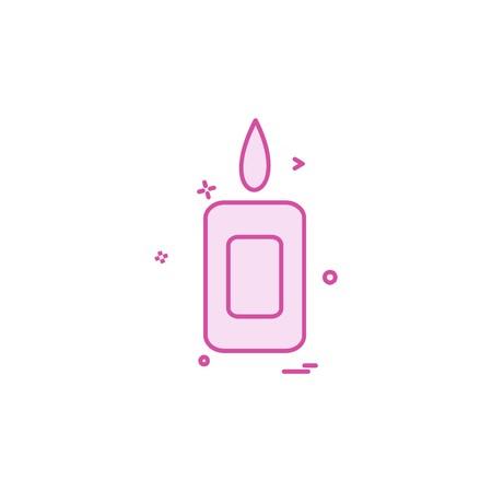 Candle icon design vector
