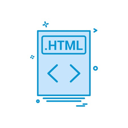 file files html icon vector design