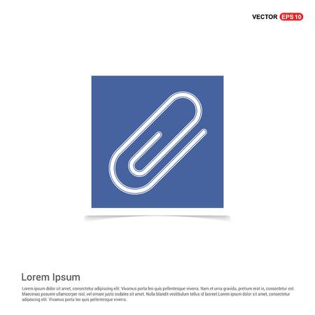paper clip icon - Blue photo Frame Stock Vector - 118350362