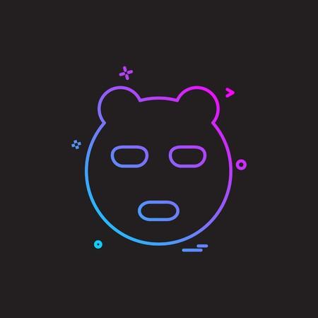 Bear icon design vector Stock Vector - 116570389