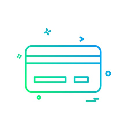 Credit card icon design vector