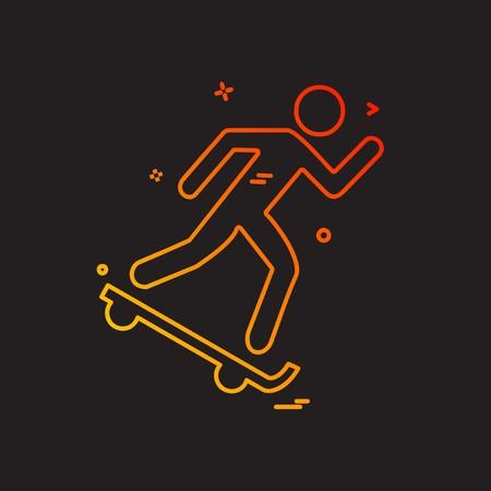 Skateboard icon design vector