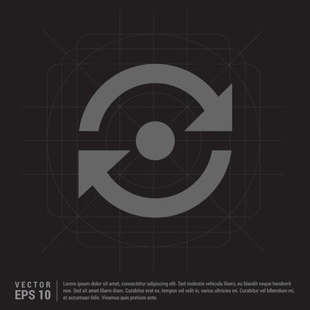 reload icon Stock Illustratie