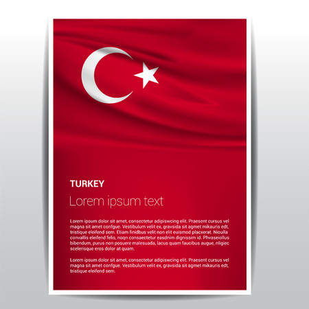 Turkey Independence day design card vector 向量圖像