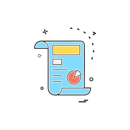 Invoice icon design vector