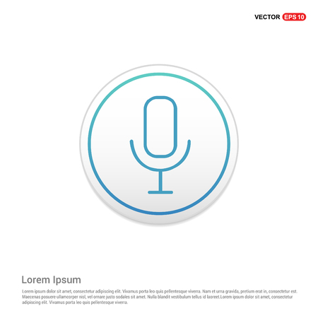 Microphone Icon - white circle button