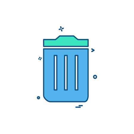 Trash icon design vector
