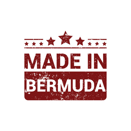 Bermuda stamp design vector
