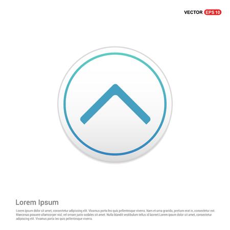 Upper Arrow Icon - white circle button
