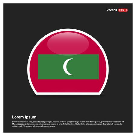 Maldives flag design vector
