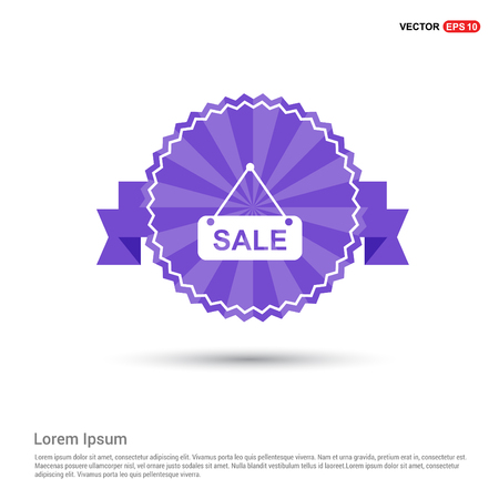 Sale tag icon - Purple Ribbon banner