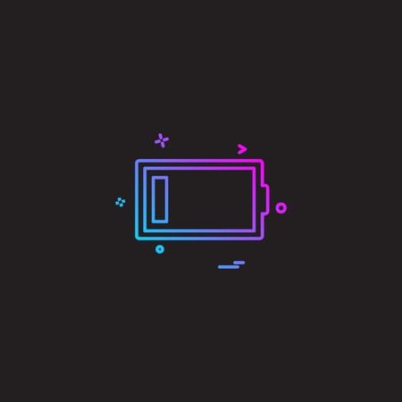 Low battery icon design vector