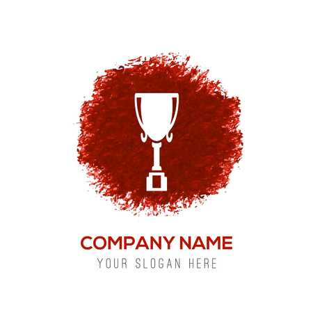 Trophy Icon - Red WaterColor Circle Splash