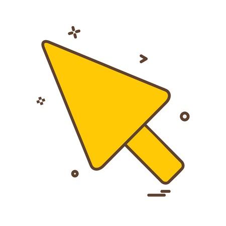 Pointer icon design vector