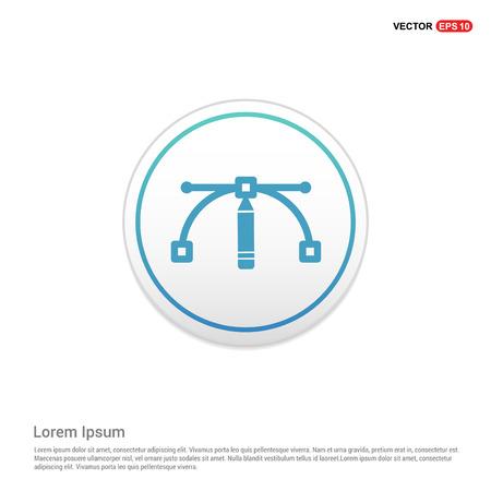 vector icon - white circle button