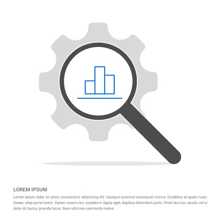 Business graph icon - Free vector icon Illustration