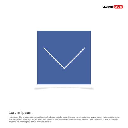 Down Arrow Icon - Blue photo Frame