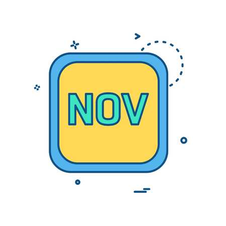 November Calender icon design vector