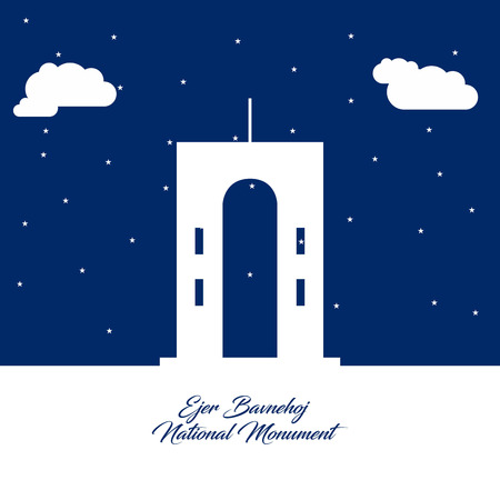 World Famous landmarks and monuments design with blue background vector