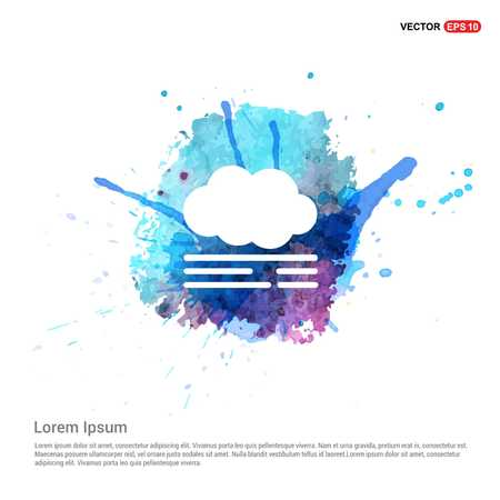 Cloud Icon - Watercolor Background