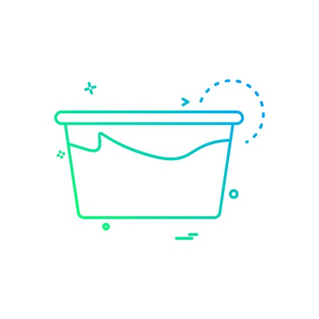 Tub icon design vector