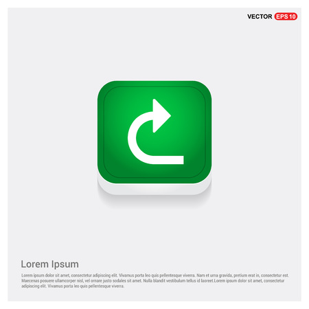 turn right arrow icon Illustration