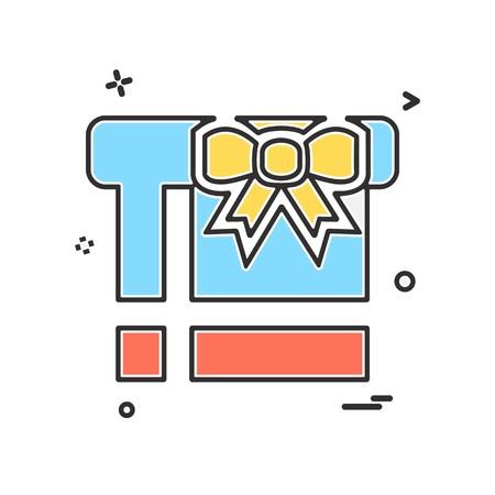 Giftbox icon design vector