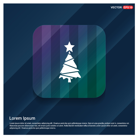 X-Mas Tree Icon - Free vector icon