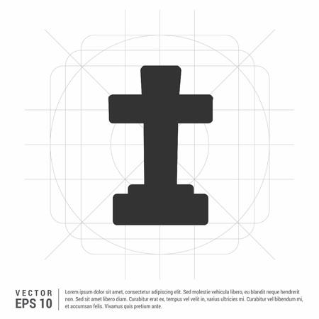 Halloween Grave Cross icon