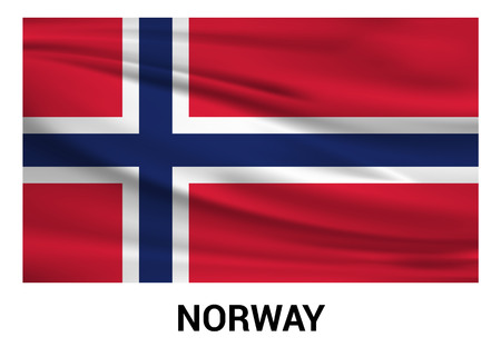 Norway flag design vector