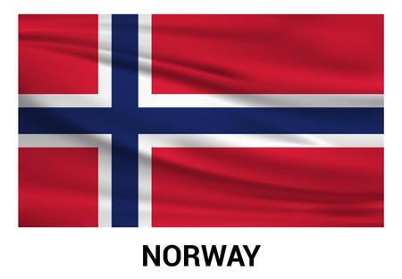 Norway flag design vector