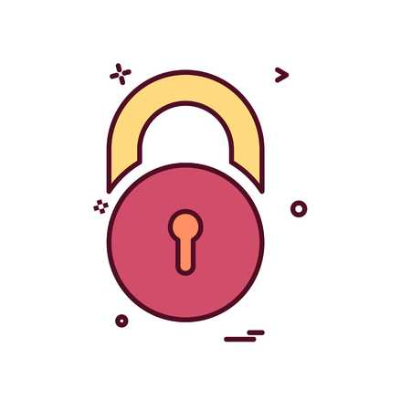 Locked icon design vector