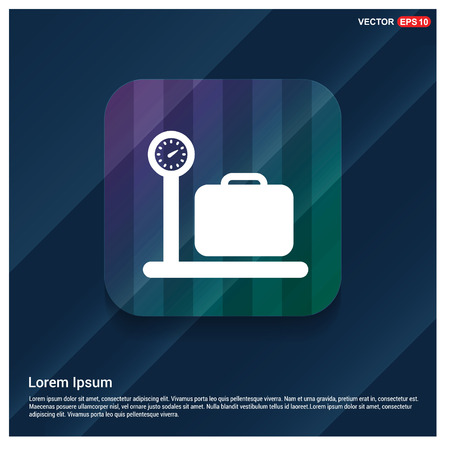 Luggage weighing Icon Illustration