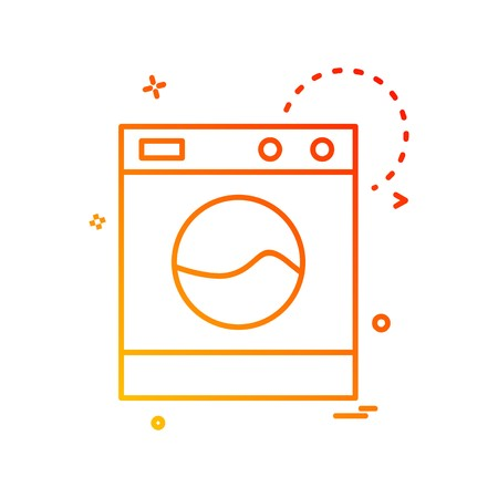 Washing machine icon design vector
