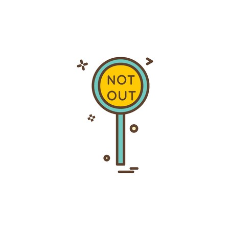 notout decision umpair icon vector design