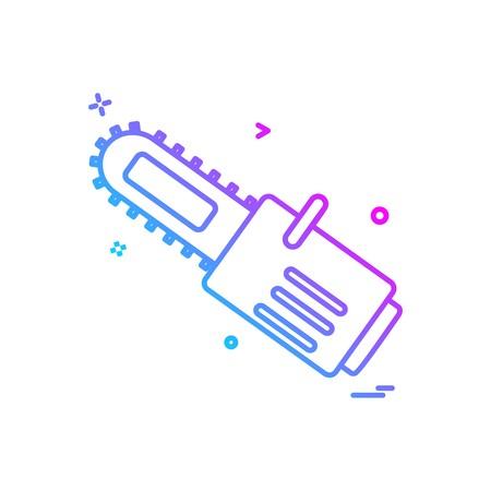 saw cutter icon vector design
