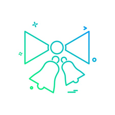 Christmas Bell icon design vector