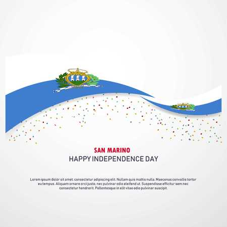 San Marino Happy independence day Background