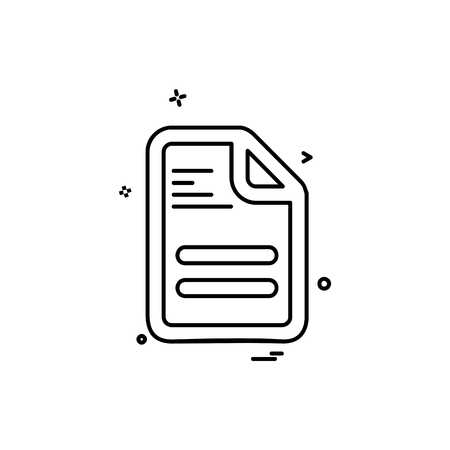 File icon design vector