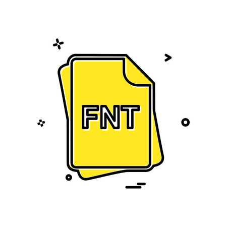 FNT file type icon design vector