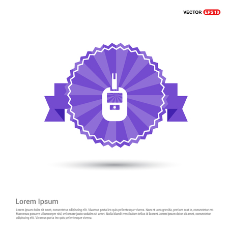 Diabetes Glucometer Icons - Purple Ribbon banner Ilustracja