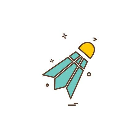 Badminton icon design vector