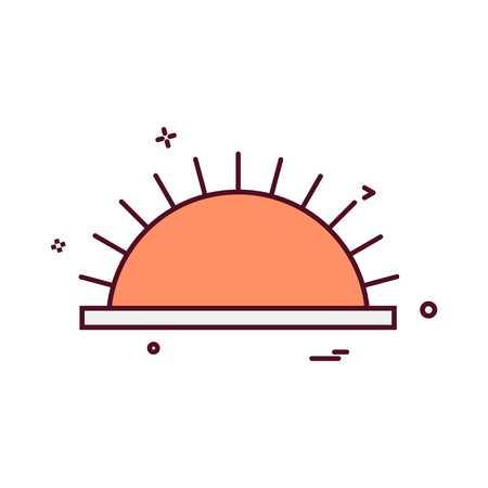 Picnic icon design vector