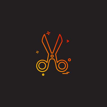 cut cutter scissor scissors tailor icon vector desige