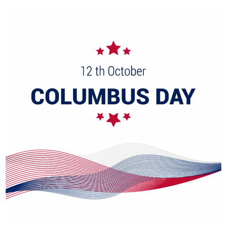 Happy Columbus day design vector
