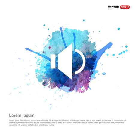 Sound volume icon - Watercolor Background