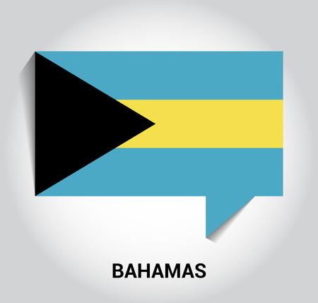 Bahamas flag design vector