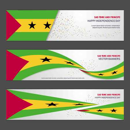 Sao Tome and Principe independence day abstract background design banner and flyer, postcard, landscape, celebration vector illustration