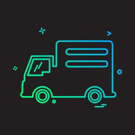 Truck icon design vector