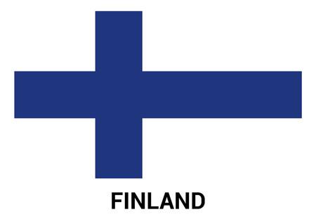 Finland flag design vector